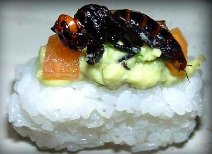 Sushi con insectos... ¿Una nueva moda?