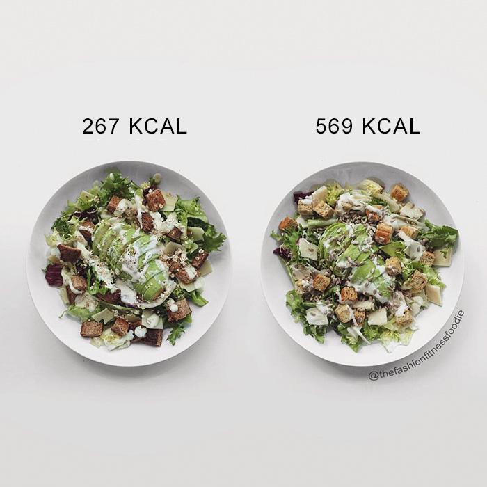 Bloguera compara calorías de alimentos
