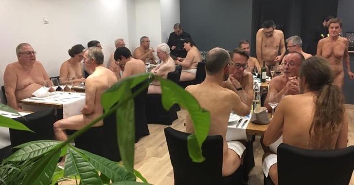 Abren el primer restaurante donde se come desnudo