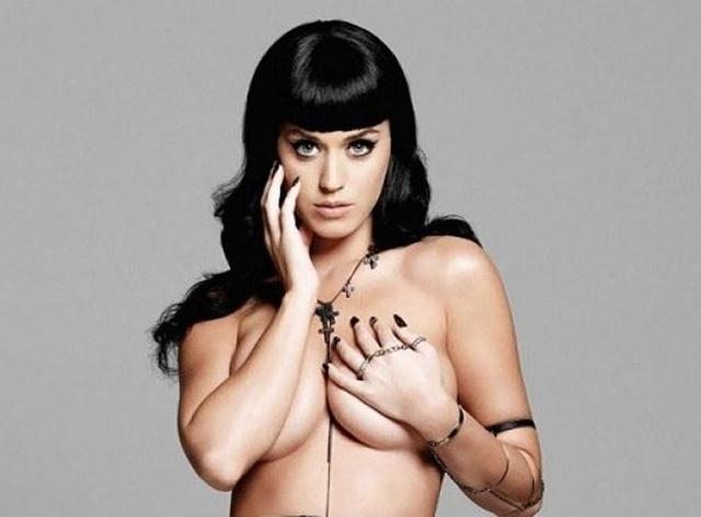 La estrella del descanso de la Superbowl, Katy Perry desnuda