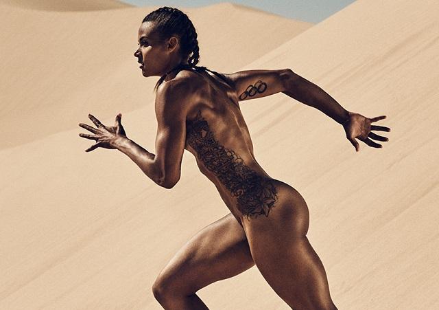 Enamórate de la escultural reina del heptatlón: ¡Chantae McMillan desnuda!