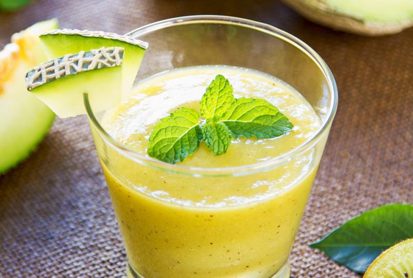 Zumo de melón y kiwi para adelgazar