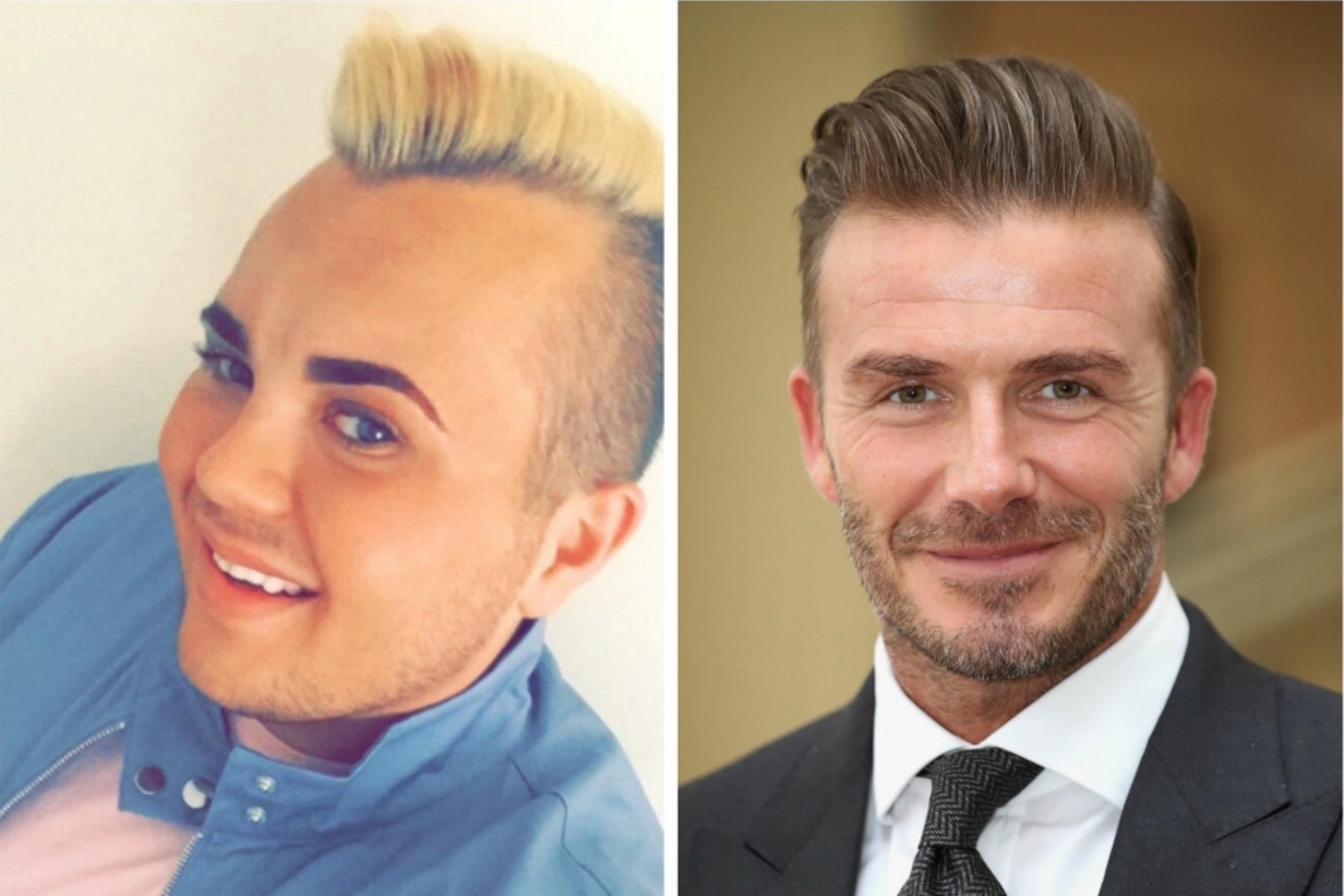 Se gasta 23,000 Euros para parecerse a David Beckham