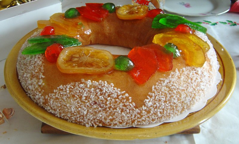 fruta escarchada roscon de reyes