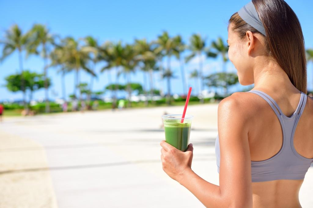 3 zumos verdes ideales para hacer deporte