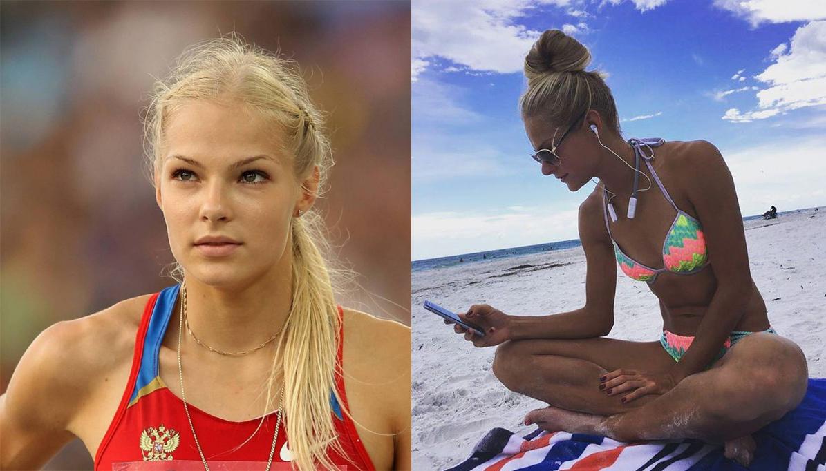 La guapísima atleta rusa Darya Klishina desnuda
