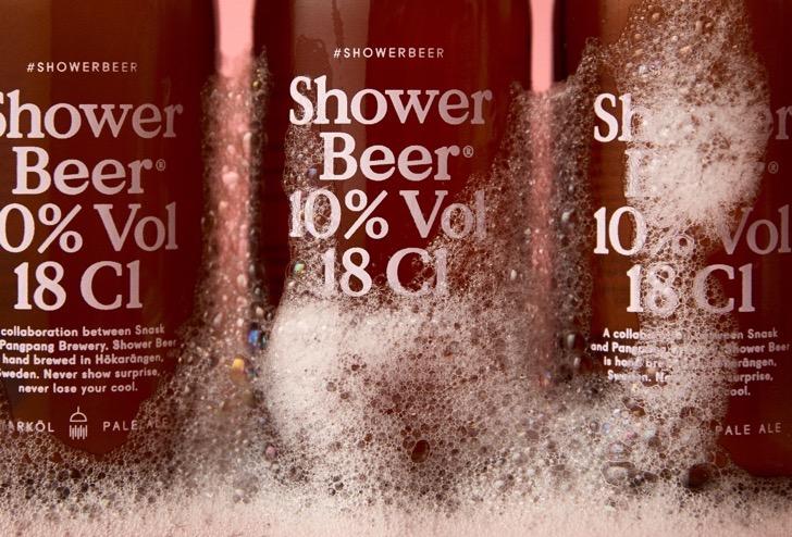 cerveza para la ducha