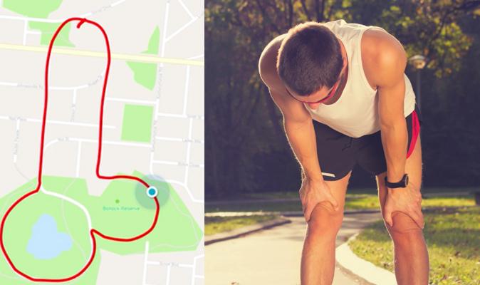Runners recorriendo penes contra el cáncer de testículos