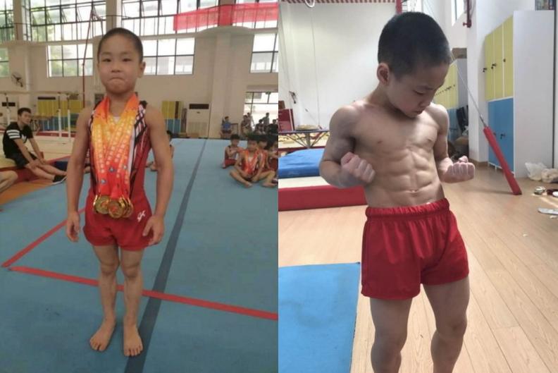 Chen Yi, uno de los niños más fuertes del mundo