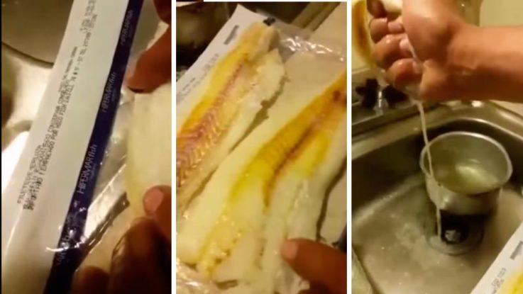 El vídeo del pescado chino de espuma, el nuevo engaño en las redes