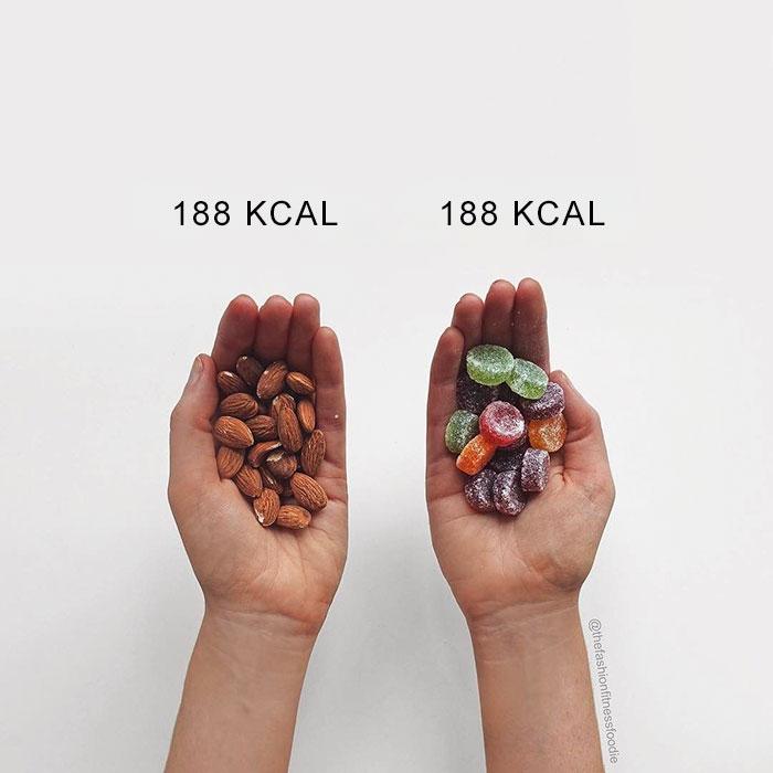 No creerás que todos estos alimentos tengan las mismas calorías