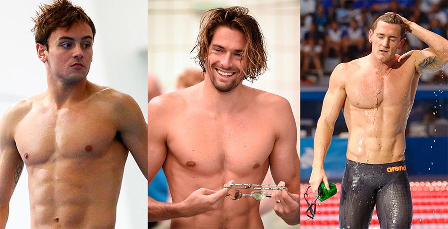 nadadores desnudos