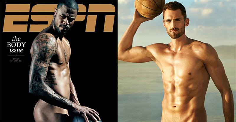 Los jugadores de baloncesto desnudos más sexis