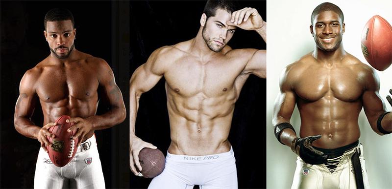 jugadores de futbol americano desnudos