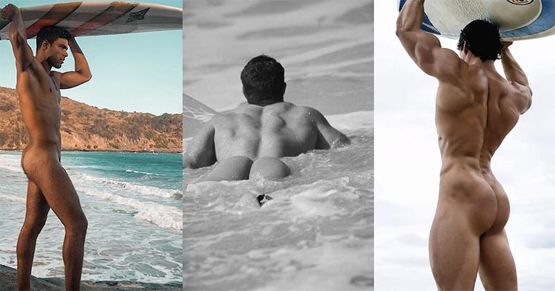 Los surferos desnudos con los cuerpos más sexis