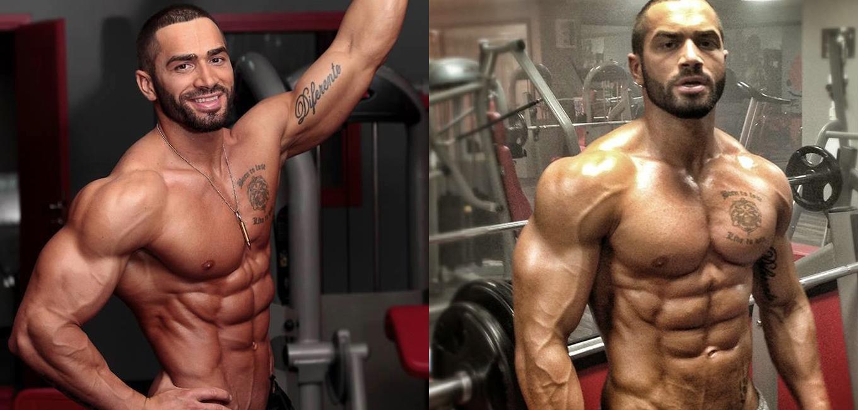 El increíble físico del modelo de fitness Lazar Angelov desnudo