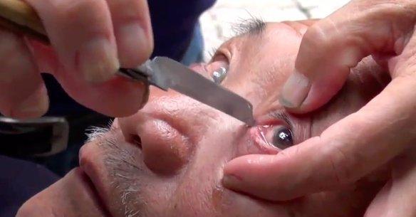 afeitado de parpados china
