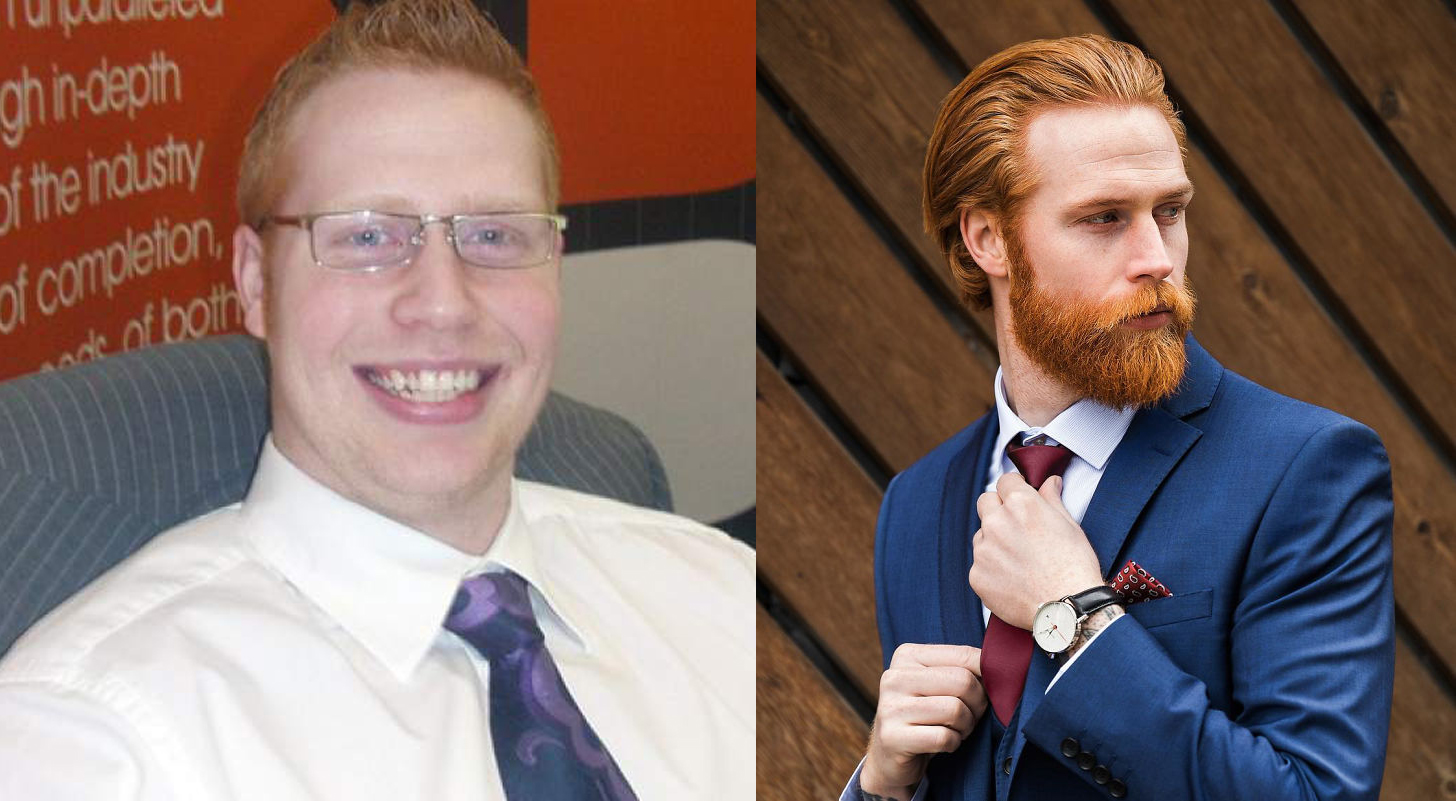 Perdió 50 kilos, se dejó barba y ahora es modelo