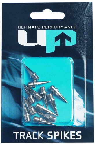 Ultimate Performance Track Spikes - Cordones de Clavos, tamaño 9 mm, Color Plateado