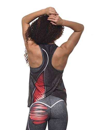 Excess Camiseta Deportiva Mujer Músculo Tank Top Tirantes Fitness Yoga Pilates Running Gimnasio Maillot ciclismo 3D de Fiesta Mujer Sexy Italiano Camisetas dim XS