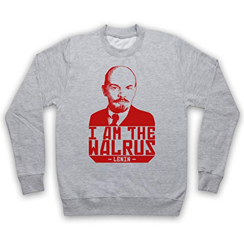 My Icon Art & Clothing Lebowski Lenin I Am The Walrus Comedy Film Sudadera, Adulto Gris Medium/Pecho 102/107 cm