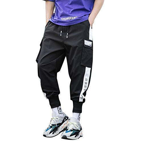 riou Pantalones Largos para Hombre Moda Casuales Pantalones Vaqueros Trabajo Corta Pantalones Pants Jogging Deportivo Pantalon Fitness Chandal